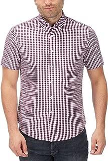 Charles Wilson Men's Short Sleeve Classic Gingham Checked Casual Shirt