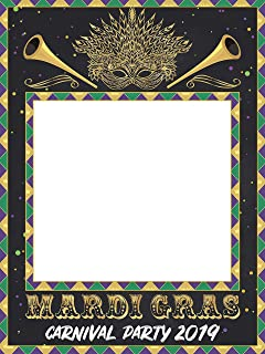 Mardi Gras 2019 Photobooth Frame, Masquerade Party Photo Booth, Photo Booth Frame, Masquerade Party Favors, Mardi Gras Gifts, Fat Tuesday Decorations, Handmade Party Supplies Photo Size 24x36,48x36