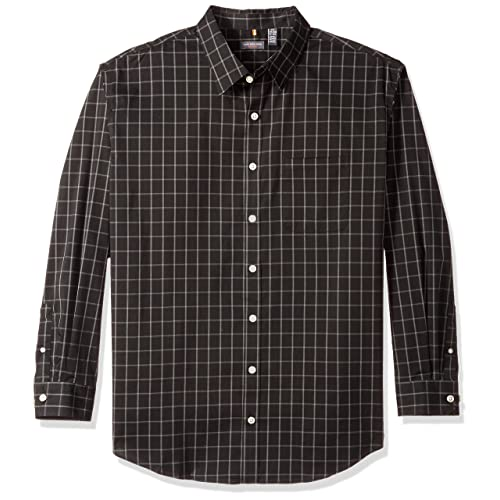 Coolred-Men Simple Long Sleeve Casual Loose Fit Non-Iron Woven Shirt