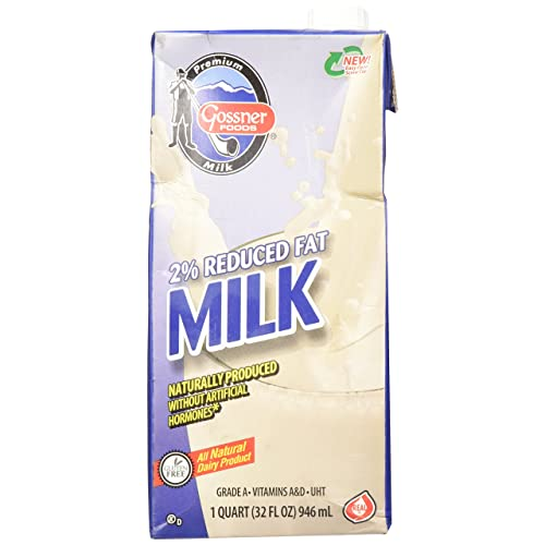 Shelf Stable Reduced Fat 2% Milk - 32 Oz Carton by Gossner Foods: Amazon.com: Grocery & Gourmet Food