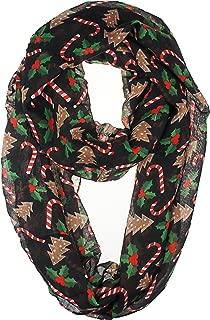 VIVIAN & VINCENT Soft Light Elegant Merry Christmas Sheer Infinity Scarf