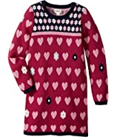Hatley Kids Daisy Hearts Sweater Dress (Toddler/Little Kids/Big Kids)