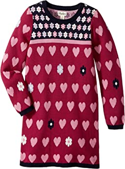 Daisy Hearts Sweater Dress (Toddler/Little Kids/Big Kids)