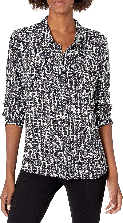 NIC+ZOE Women's Rain Dots Shirt