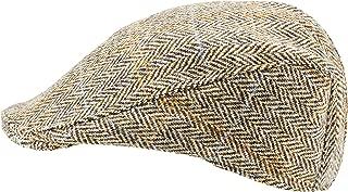 Harris Tweed.Made in Scotland.The Kilmarnock 'Brad Pitt' Style Flat Cap.made by Hanna Hats