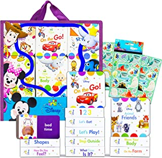 Disney Baby Board Book Set Disney Story Book Bundle ~ 9 Pack Disney Baby My First Library Board Block Books for Toddlers K...