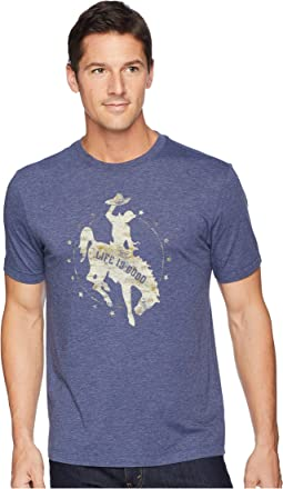 Life is Good Rodeo Cowboy Cool Tee
