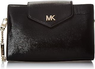 حقيبة طويلة تمر بالجسم بتصميم متوسط للنساء من مايكل كورس، مقاس M، اسود - 32H9GOXC2A