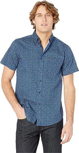 Ditsy Floral Print Short Sleeve Shirt