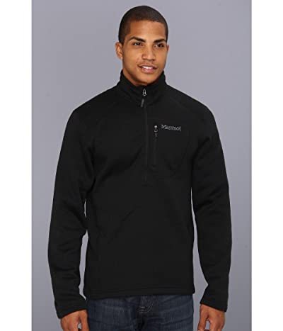 Marmot Drop Line 1/2 Zip (Black) Men