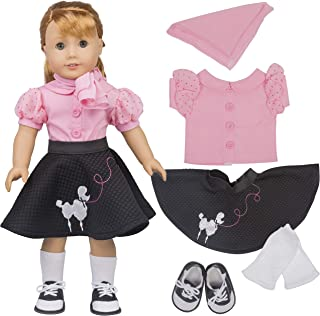 Dress Along Dolly Poodle Skirt Doll Outfit for American Girl & 18