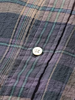 Plaid Gauze Buttondown Shirt 11-11-6301-563: Blue