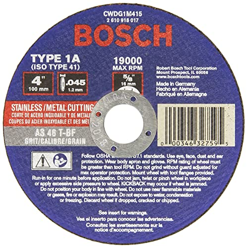 "F 10 New BOSCH 7/"" x 1//4/"" x 5//8/""-11 Grinding Wheels Ship MADE IN GERMANY"