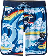 VISSLA Kids - Liquid Rollers Four-Way Stretch Boardshorts 17