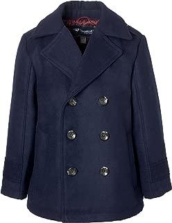 Sportoli Boy Classic Wool Look Lined Winter Vestee Dress Pea Coat Peacoat Jacket