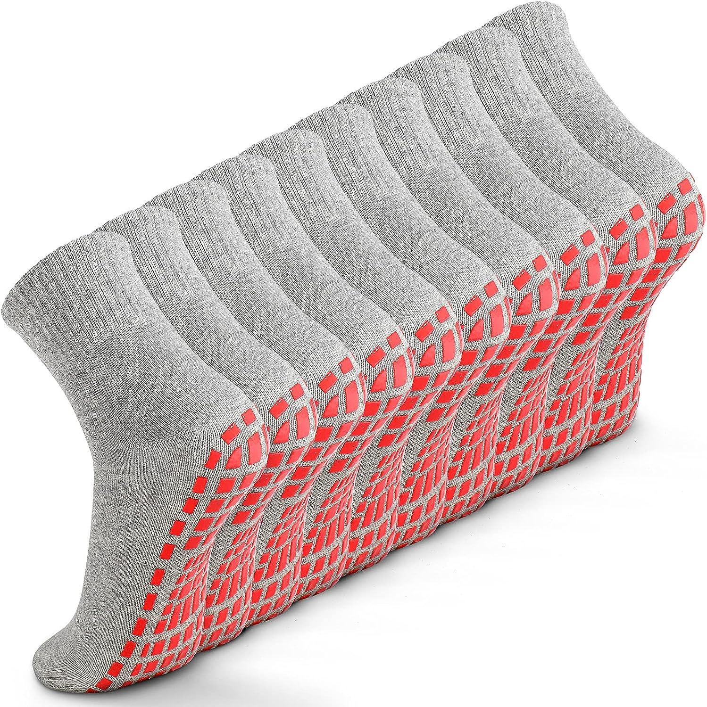 Max 77% OFF 10 Pairs Non Slip Grip Socks Arlington Mall Yoga with St Pilates Hospital
