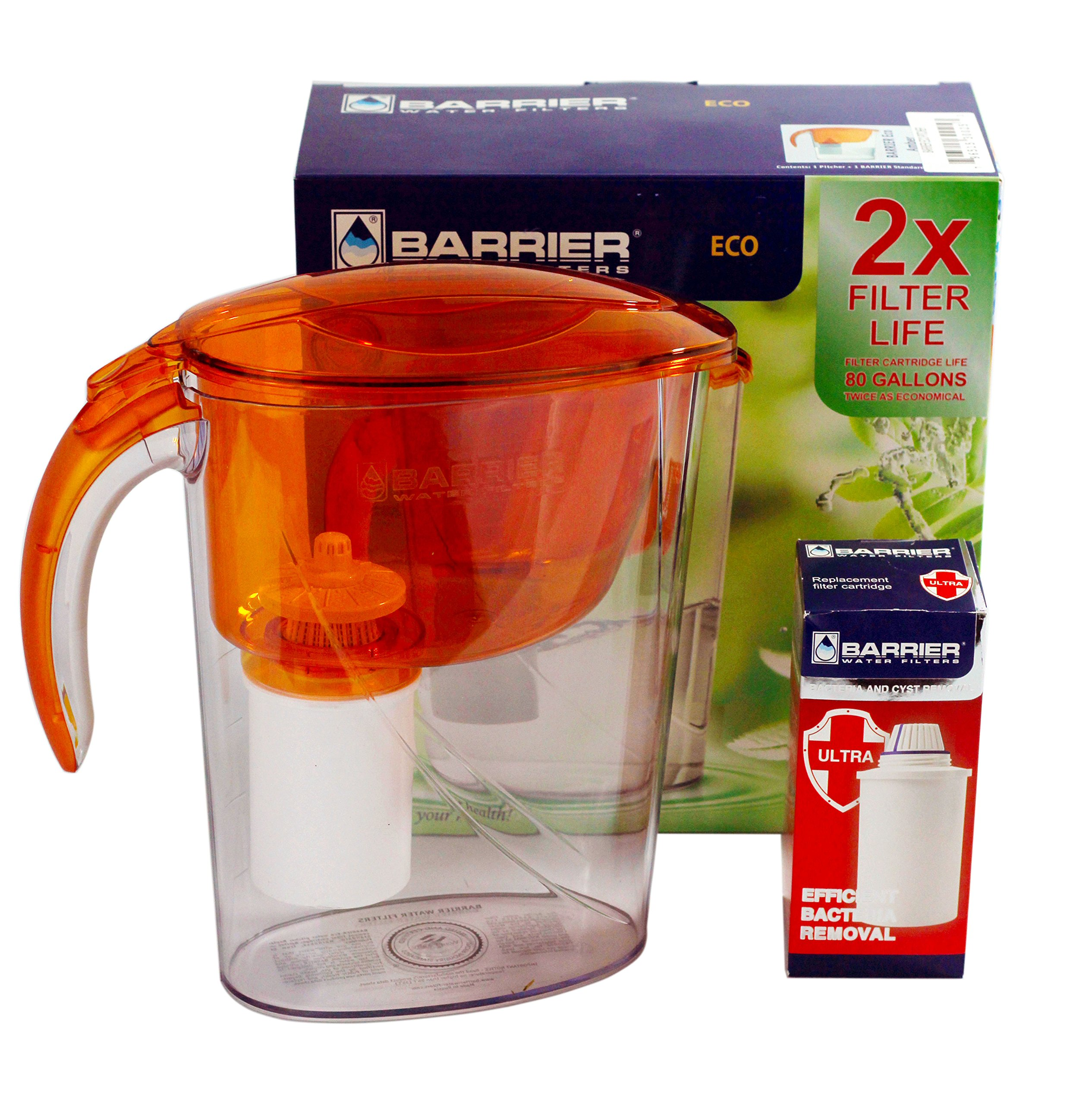 New Wave Enviro Barrier Eco Pitcher with Bacteria and Cyst Removal Cartridge