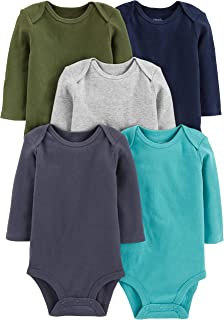 Simple Joys by Carter's 5-Pack Long-Sleeve Bodysuit Bebé-Niños