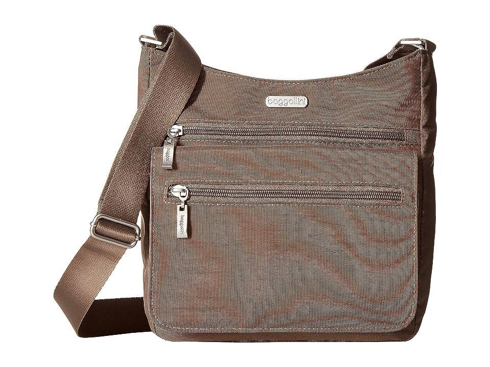 Baggallini Legacy Top Zip Flap Crossbody with RFID Wristlet (Portobello) Cross Body Handbags