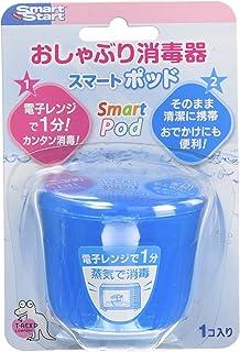Smart Start おしゃぶり消毒 スマートポッドR ブルー