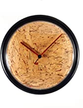 "ÉQUILIBRÉ Cork and Copper Wall Clock Decorative 9"" Diameter Minimalist Silent Non Ticking Modern Style Battery Operated. Q..."