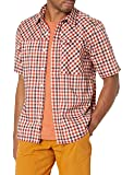 Outdoor Research Men's Discovery S/S Shirt, Burnt Orange Plaid, Large