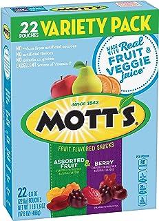 Mott's, Assorted Berry Fruit Snacks, Gluten Free, 17.6 oz