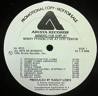 MONTY PYTHON LIVE AT CITY CENTER vinyl record