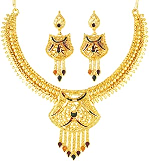 Karatcart One Gram GoldPlated Traditional Jewellery Set for Women(One Gram Gold)