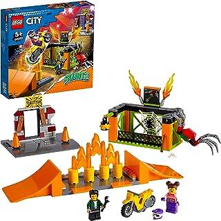 LEGO 60293 City Stuntz Stuntpark Show Bouwset met Motor met Vliegwielaandrijving, Schansen, Spinnenkooi en Racer Minifiguu...