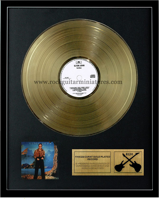 RGM1072 Eric Clapton Caribou gold Plated LP 12