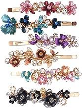 6 Colorful Vintage Flower Design Metal Hair Pins Slides Accessories Women Girls