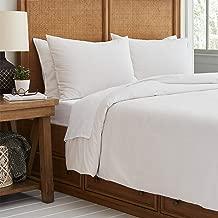Stone & Beam Classic Pinstripe Duvet Comforter Cover, Full / Queen, Grey and White