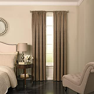 Beautyrest 63 Jute Barrou Blackout Window Curtain, Taupe, 52x108