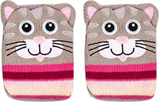 GLOW Set of 8 Magic Click Hand Warmers with Colourful Knitted Cover Assorted Pack of Instant Warm and Cosy Reusable Pocket Sized Mini Hot Water Bottle Heated Gel Pads with Four Mixed Patterns