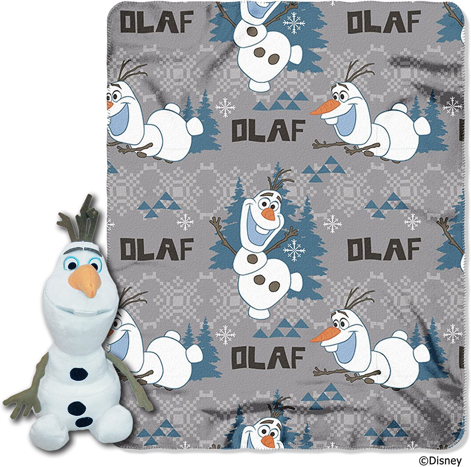 The Northwest Company Disney's Frozen Olaf Character Plush and Fleece Throw Set
