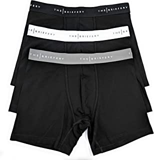 The Briefery Men's Soft Cotton Stretch Boxer Brief (3 Pack)