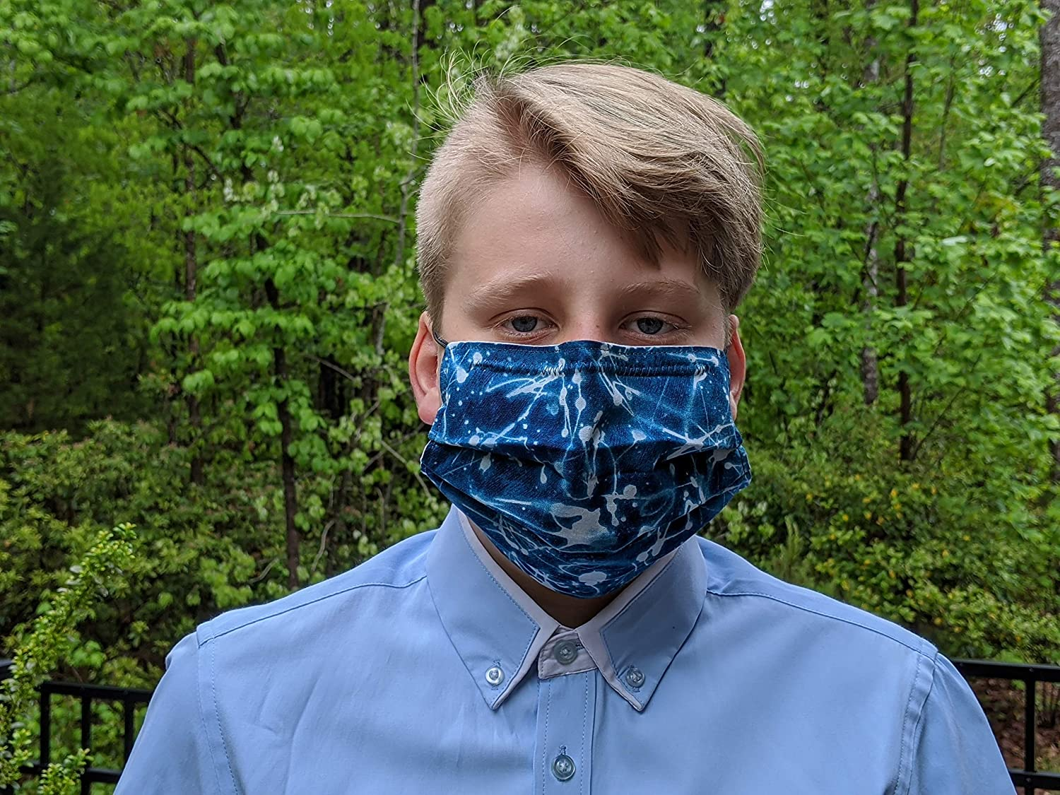 Cloth Face Mask- Double Layer- Albuquerque Mall 100% National uniform free shipping Re Cotton Covering-Washable-
