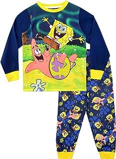 Bob Esponja Pijamas de Manga Larga para niños Sponge Bob Squarepants