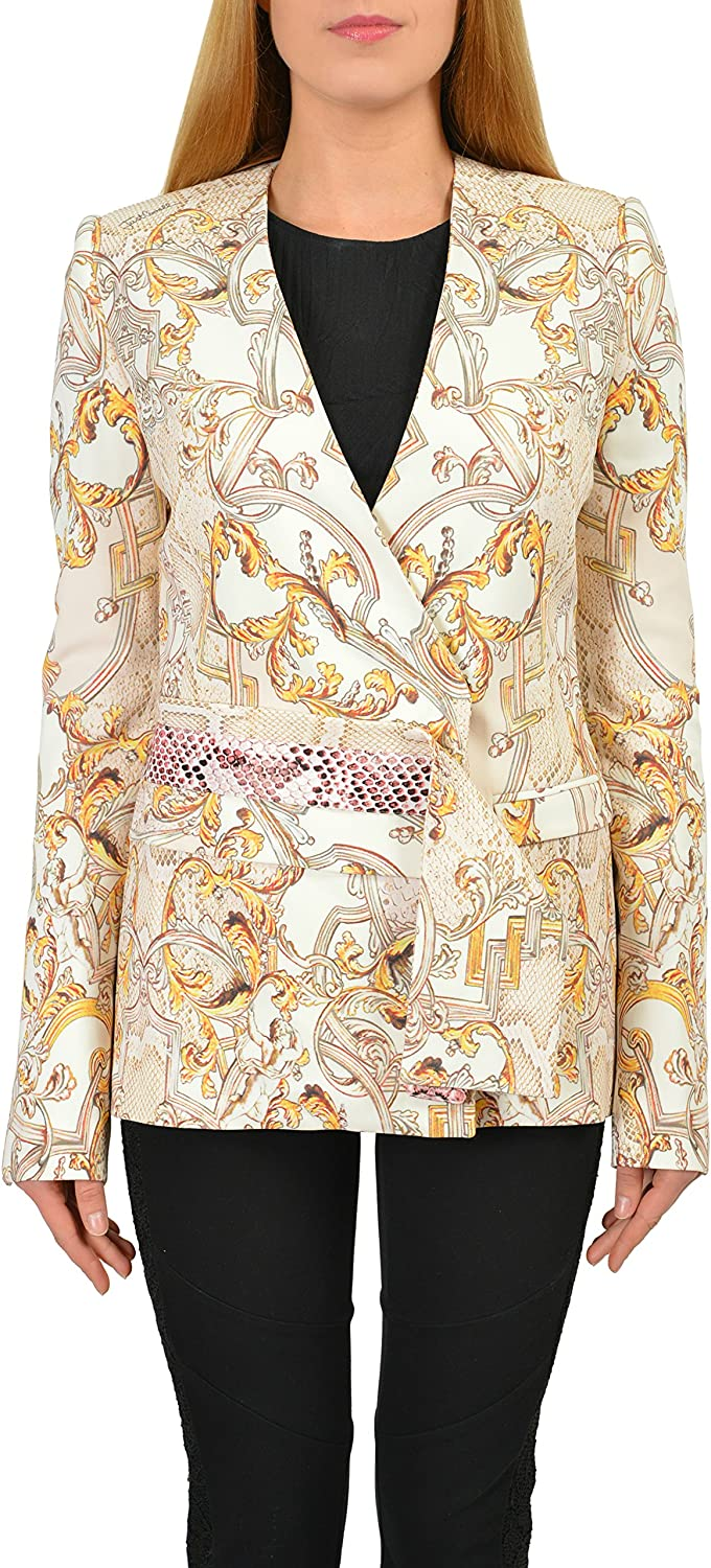 Just Cavalli Multicolor Women's Double Breasted Basic Jacket US S IT 40