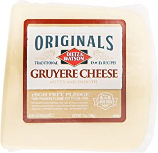 Dietz & Watson Originals German Gruyere Cheese Block, 7 oz