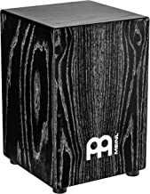 Meinl Percussion Cajon Box Drum with Internal Snares-NOT MADE IN CHINA-American White Ash Vintage Black, Full Size, 2-YEAR WARRANTY, (MCAJ100VBK)