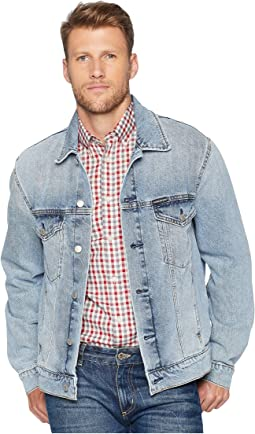 Modern Classic Trucker Jacket in Tash Blue