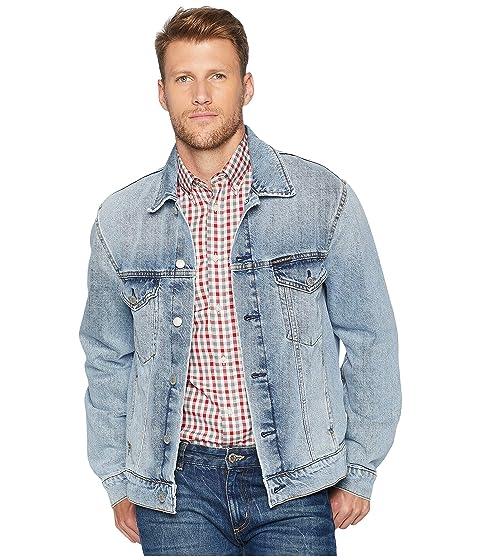 ed2c2e62040 Calvin Klein Jeans Modern Classic Trucker Jacket in Tash Blue at ...