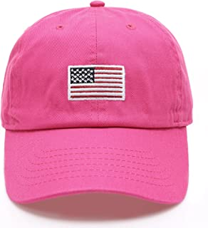 MIRMARU USA American Flag Embroidered 100% Cotton Adjustable Strap Baseball  Cap Hat b4c74c58e5d4