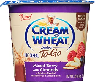 Cream of Wheat Hot Cereal to Go, Mixed Berry with Almonds, 2.29 Ounce (Pack of 6)