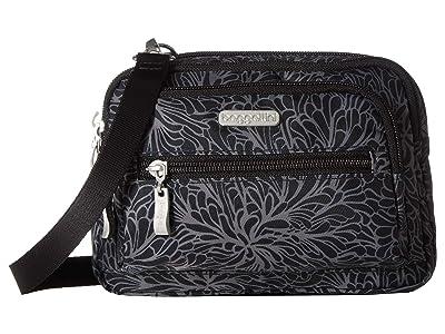 Baggallini Legacy Triple Zip Bagg (Midnight Blossom) Cross Body Handbags