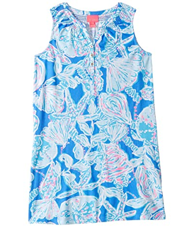 Lilly Pulitzer Kids Mini Essie Dress (Toddler/Little Kids/Big Kids) (Blue Haven Pop UP Into The Deep) Girl