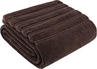 American Soft Linen Premium, Luxury Hotel & Spa Quality, 35x70 Extra Large Jumbo Size Bath Towel, Bath Sheet Cotton for Maximum Softness and Absorbency, [Worth $34.95] Brown