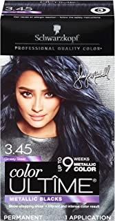 Schwarzkopf Color Ultime Metallic Permanent Hair Color Cream, 3.45 Glossy Steel, Pack of 12
